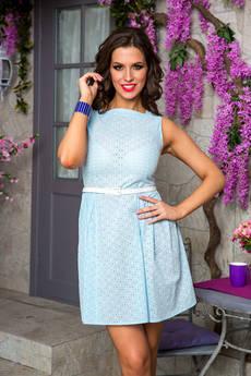 Голубое летнее платье Angela Ricci