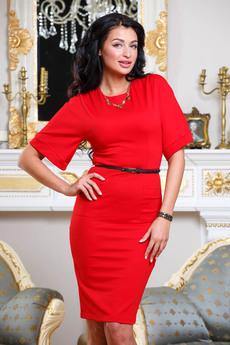 Строгое красное платье Angela Ricci со скидкой