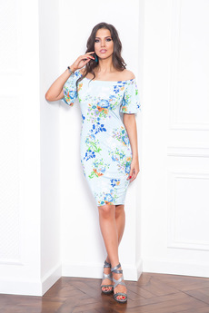 Летнее платье с открытыми плечами Angela Ricci