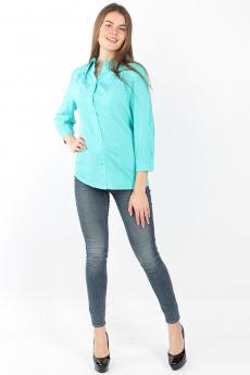 Бирюзовая блузка в горошек Bast