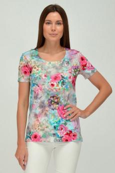 Трикотажная блузка с цветами Viserdi